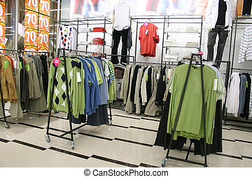 male clothes in shop