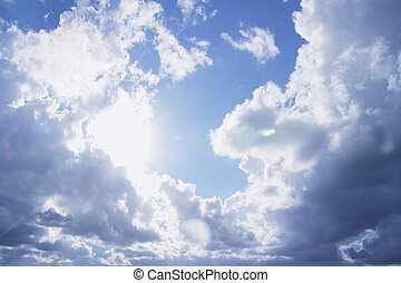 Clouds - Formation of White Clouds on Blue Sky