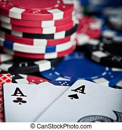 Playing Cards and Poker chips - Playing Cards and Poker...
