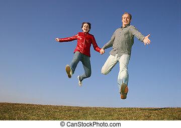 run fly jump couple