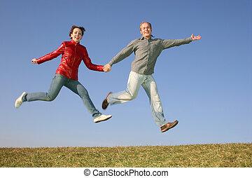 run fly jump couple 2