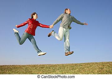 run fly jump couple 3