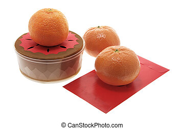Chinese New Year Cake and Madarins
