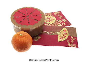 Chinese New Year Cake and Red Packets