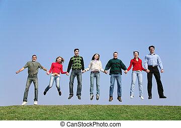 跳躍, グループ
