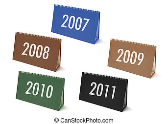 Desk Calendars with Years - Desk Calendar with Years on...