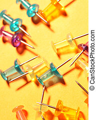 Push Pins - Close up of regular Push Pins