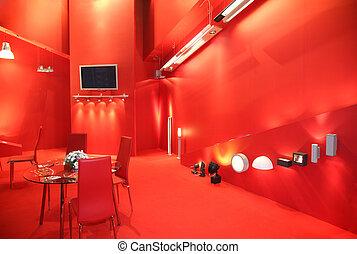 red exhibit