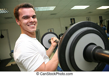 gym man with barbell 2