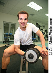 gym man with dumbbell 2
