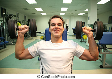 gym man with dumbbells 3