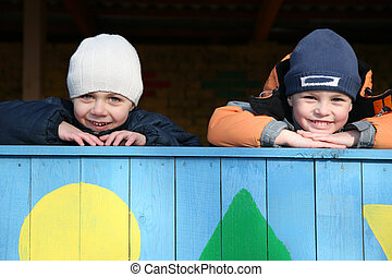 happy children in kindergarten