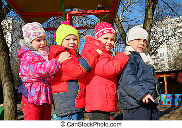 team of four in kindergarten