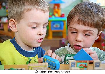 niños, jardín de la infancia