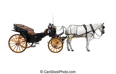 Cheval, charrette