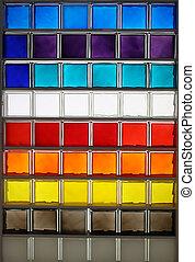 color glass square