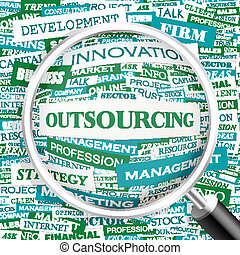 OUTSOURCING Word cloud concept illustration Wordcloud...