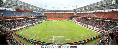 futebol, estádio, panorama