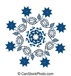 Circular pattern drawn with markers   for a variety of purposes, isolated, vector. ?ute template for design cover, brochure, bags, fabric, dishes  and other purposes