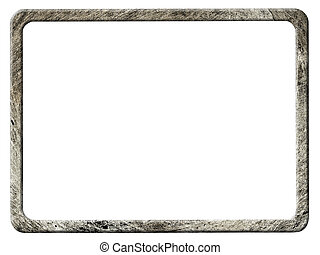 Metal frame with rounded corners, isolated on white...