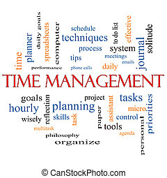 Time Management Word Cloud Concept with great terms such as...