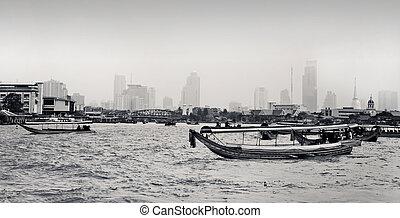 View of the Chao Praya River in Bangkok, Thailand