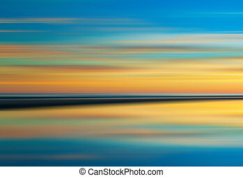 Reflection of colorful sunset