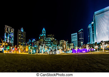 charlotte north carolina city skyline