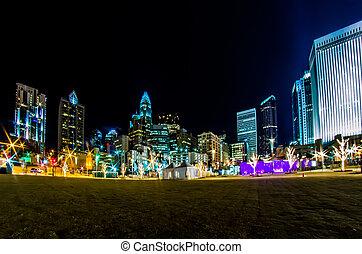 charlotte north carolina city skyline