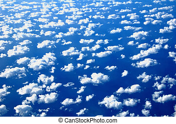 Clouds and sky - White clouds viewed from above