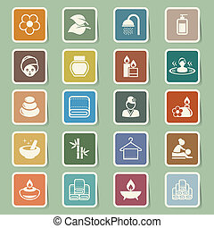 Spa icons set .Illustration eps10