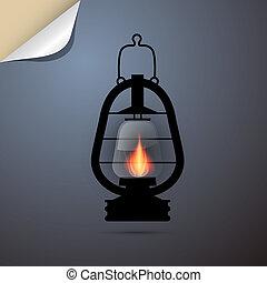 型, ランタン, ガス, ランプ