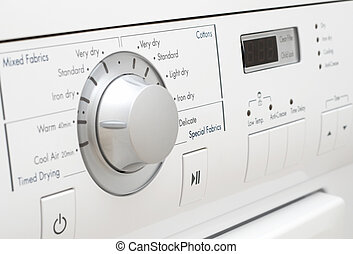 Washing machine - Control panel of white washing machine