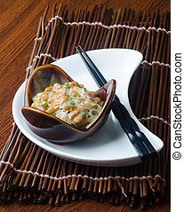 japanese natto on the background - japanese natto on a...