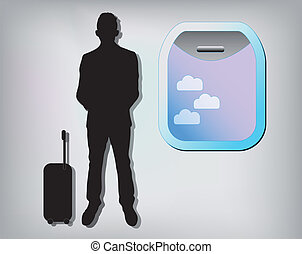 Illustration of business man with a