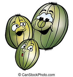 Gooseberry - Colored Cartoon Illustration, Vector