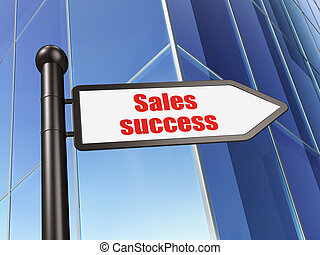 Marketing concept: sign Sales Success on Building background