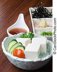 japanese cuisine tofu on the background - japanese cuisine...