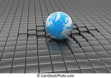 Earth in abstract background