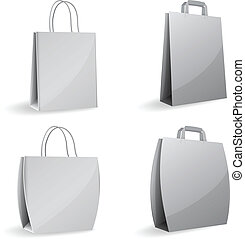 gray empty paper bags