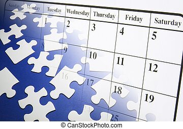 Jigsaw Puzzles and Calendar - Composite of Jigsaw Puzzles...