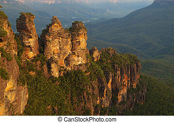 The Three Sisters, Blue Mountains, New South Wales,...