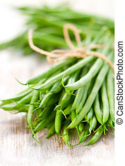 green bean - a bunch of green beans