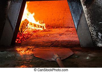 firebox, estufa, madera, siciliano