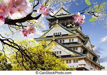 Osaka Castle in Osaka, Japan. - Osaka Castle in Osaka, Japan...
