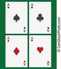 aces playing cards suits