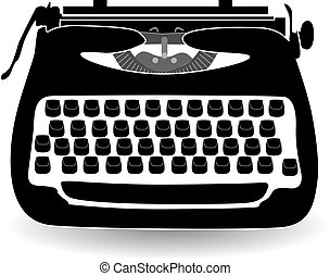 retro typewriter vector illustration