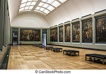 Louvre in Paris: the gallery of Rubens paintings