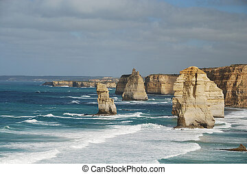 twelve apostles - Twelve Apostles at the Great Ocean Road,...