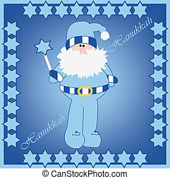 hanukkah - Vector illustration of Hanukkah Harry in card...